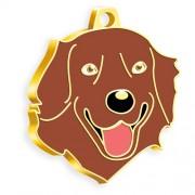 24 Ayar Altın Kaplama Kızıl Golden Retriever Köpek Künyesi