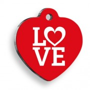 Love Kırmızı Kalp Kedi ve Köpek Künyesi