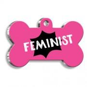 Feminist Kemik Şekilli Köpek Künyesi