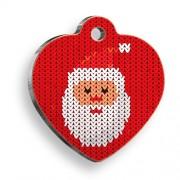 Pixel Noel Baba Kalp Kedi ve Köpek Künyesi