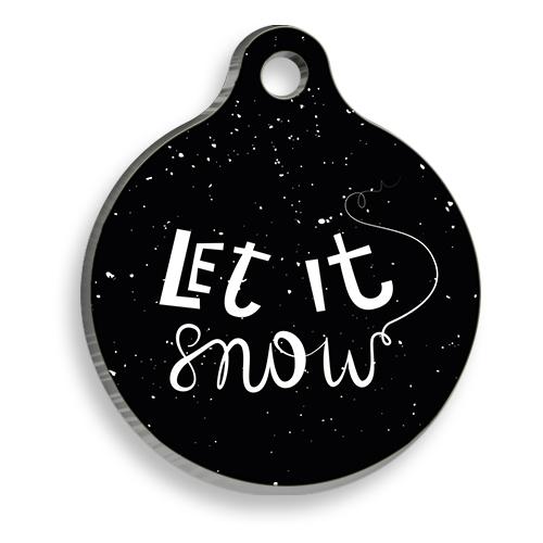 Let It Snow Yuvarlak Kedi ve Köpek Künyesi