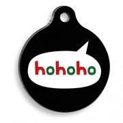 Hohoho Siyah Yuvarlak Kedi ve Köpek Künyesi
