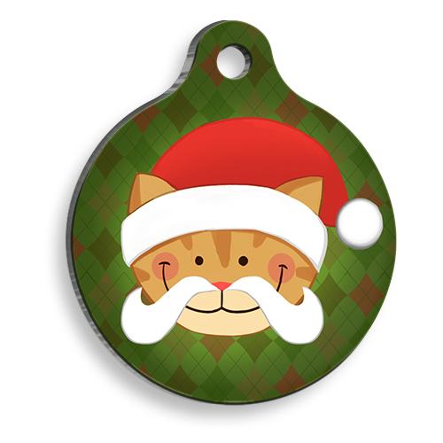 Kedi Noel Baba Yuvarlak Kedi Künyesi