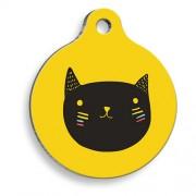 Sarı Yuvarlak Kedi Künyesi