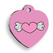 Uçan Kalp Kalp Şekilli Köpek Künyesi