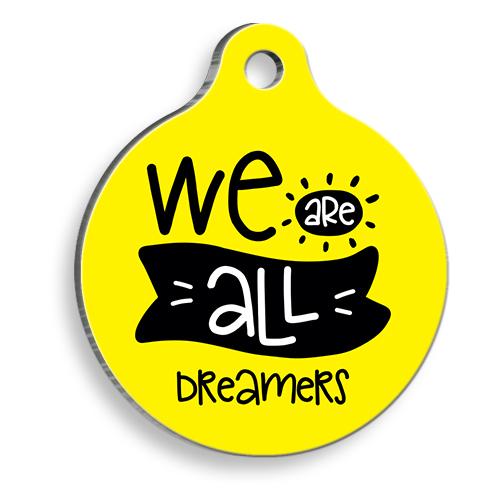 All Dreamers Yuvarlak Kedi ve Köpek Künyesi