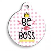 Be The Boss Pembe Yuvarlak Kedi ve Köpek Künyesi