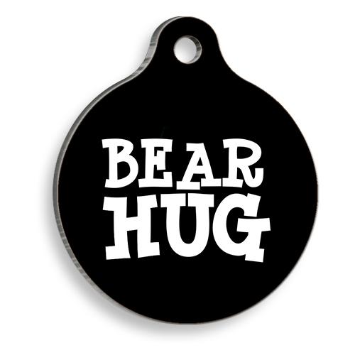 Bear Hug Yuvarlak Kedi ve Köpek Künyesi