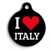 I Love Italy Yuvarlak Kedi ve Köpek Künyesi