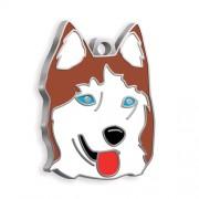 Sibirya Kurdu Köpek Künyesi (Kızıl)