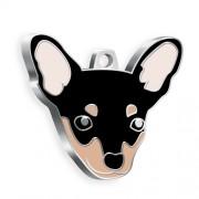 Pinscher Köpek Künyesi (Siyah)