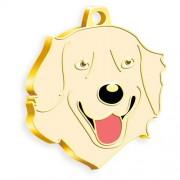 24 Ayar Altın Kaplama Golden Retriever Köpek Künyesi