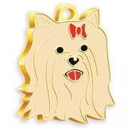 24 Ayar Altın Kaplama Yorkshire Terrier Köpek Künyesi