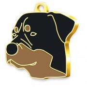 24 Ayar Altın Kaplama Rottweiler Köpek Künyesi