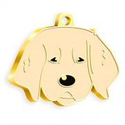 24 Ayar Altın Kaplama Yavru Golden Köpek Künyesi
