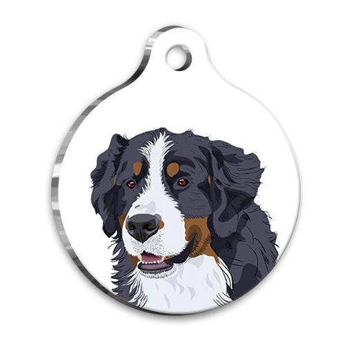 Bernese Tasarımlı Köpek Künyesi