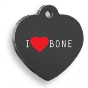 I Love Bone Kalp Köpek Künyesi