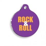 Rock & Roll Yuvarlak Kedi ve Köpek Künyesi
