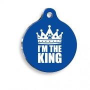 I'm The King Desenli Yuvarlak Kedi ve Köpek Künyesi