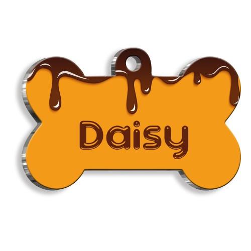 Çikolata Kemik Şekilli Köpek Künyesi