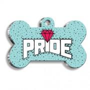 Mavi Pride Kemik Şekilli Köpek Künyesi