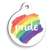 Gökkuşağı Pride 2 Yuvarlak Kedi ve Köpek Künyesi