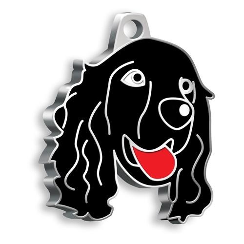 Cocker Köpek Künyesi (Siyah)