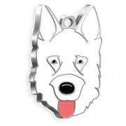 Alman Kurdu Köpek Künyesi (Beyaz)