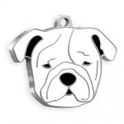 Bulldog Köpek Künyesi (Beyaz)