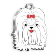 Shih-Tzu Köpek Künyesi (Beyaz)