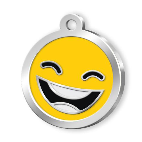 Mineli Seri Smile Künye - Sarı