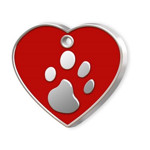 Kalp Şeklinde Mineli Büyük Köpek Künyesi