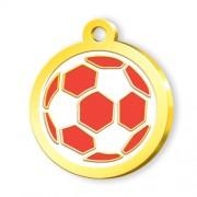 24 Ayar Altın Kaplama Futbol Topu Künye