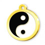 24 Ayar Altın Kaplama Yin Yang Künye