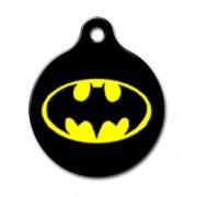 Batman Logo Desenli Yuvarlak Kedi ve Köpek Künyesi