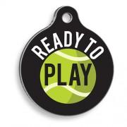 Tenis Toplu Yuvarlak Kedi ve Köpek Künyesi
