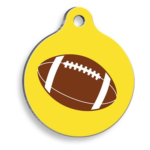 Amerikan Futbol Topu Yuvarlak Kedi ve Köpek Künyesi