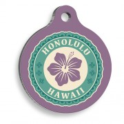 Honolulu Figür Yuvarlak Kedi ve Köpek Künyesi