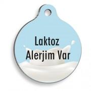 Laktoz Alerjim Var Yuvarlak Kedi ve Köpek Künyesi