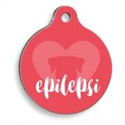 Epilepsi Köpek Kırmızı Yuvarlak Köpek Künyesi