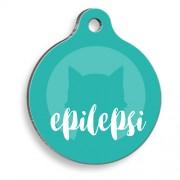 Epilepsi Kedi Mavi Yuvarlak Kedi Künyesi
