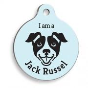 Mavi Jack Russel Yuvarlak Köpek Künyesi