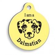 Sarı Dalmaçyalı Yuvarlak Köpek Künyesi