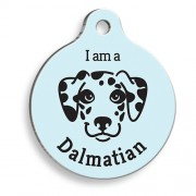 Mavi Dalmaçyalı Yuvarlak Köpek Künyesi