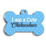 Chihuahua Mavi Kemik Şekilli Köpek Künyesi