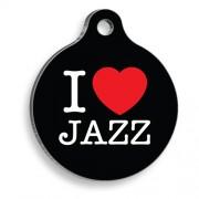 Siyah Jazz Yuvarlak Kedi ve Köpek Künyesi
