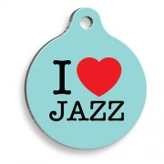 Yeşil Jazz Yuvarlak Kedi ve Köpek Künyesi