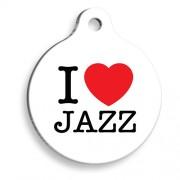 Beyaz Jazz Yuvarlak Kedi ve Köpek Künyesi