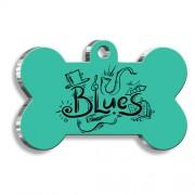 Blues Kemik Şekilli Köpek Künyesi